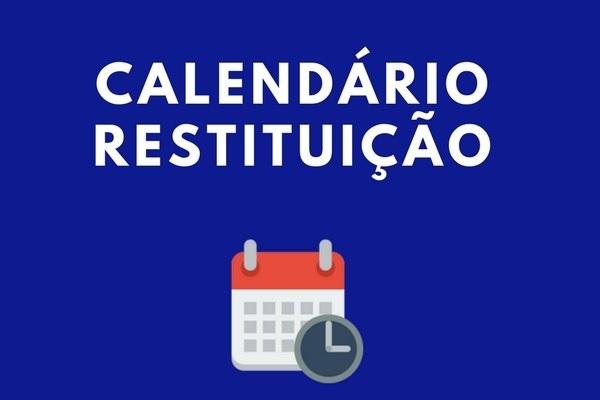 Calendário Restituição IR 2020